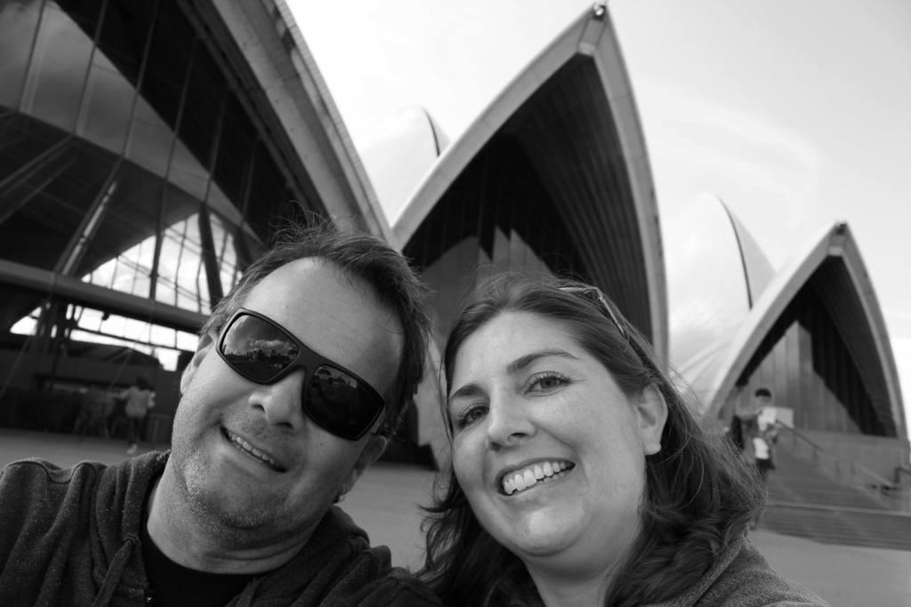 Kris and Sarah Sydney Opera House Australia JetSetting Fools