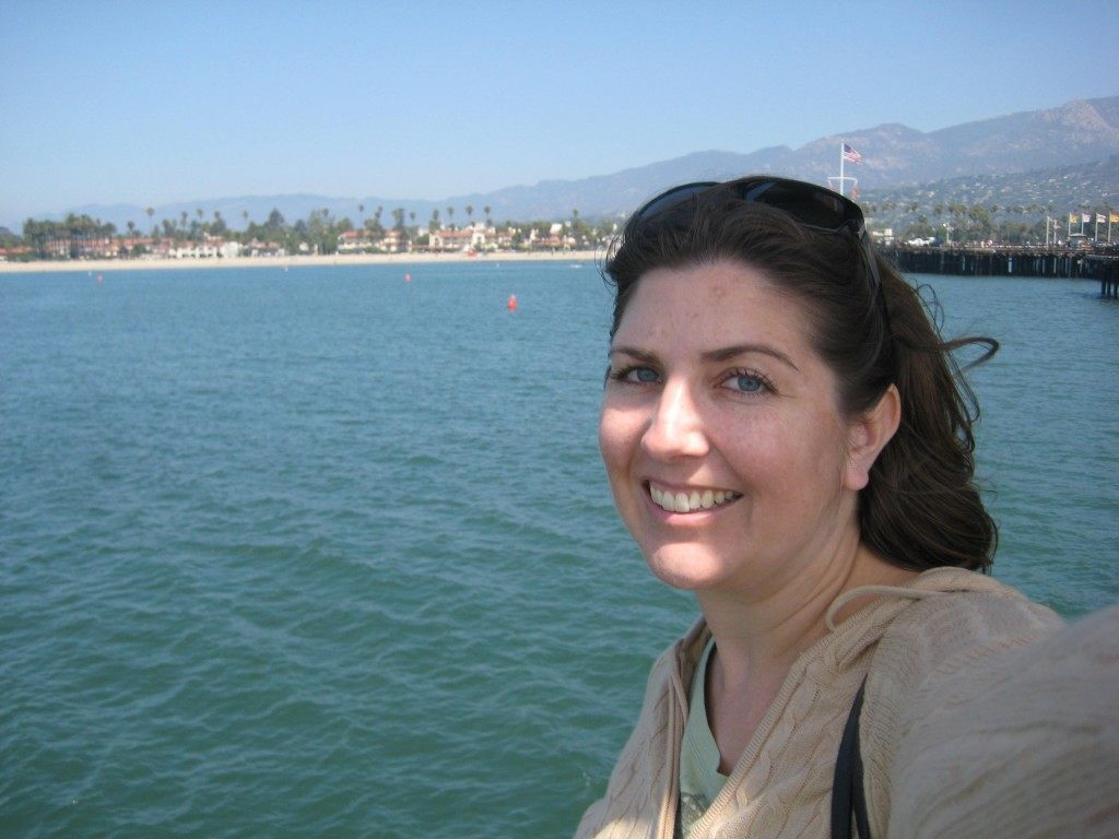 Loving the breeze on Stearns Wharf during our Santa Barbara day trip