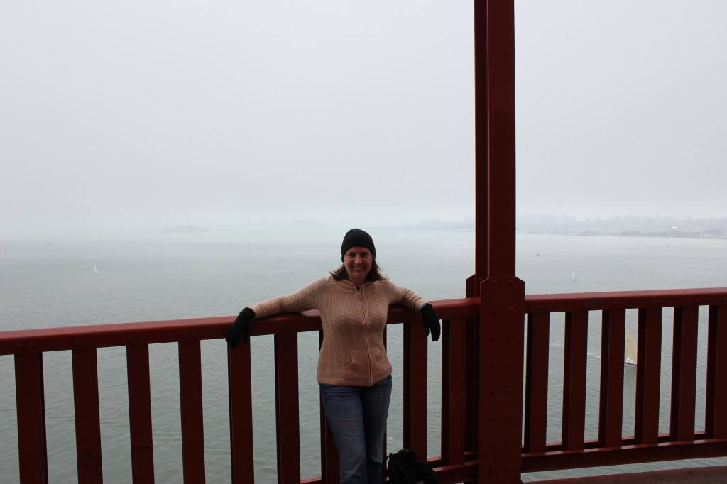 Sarah on the Golden Gate Bridge