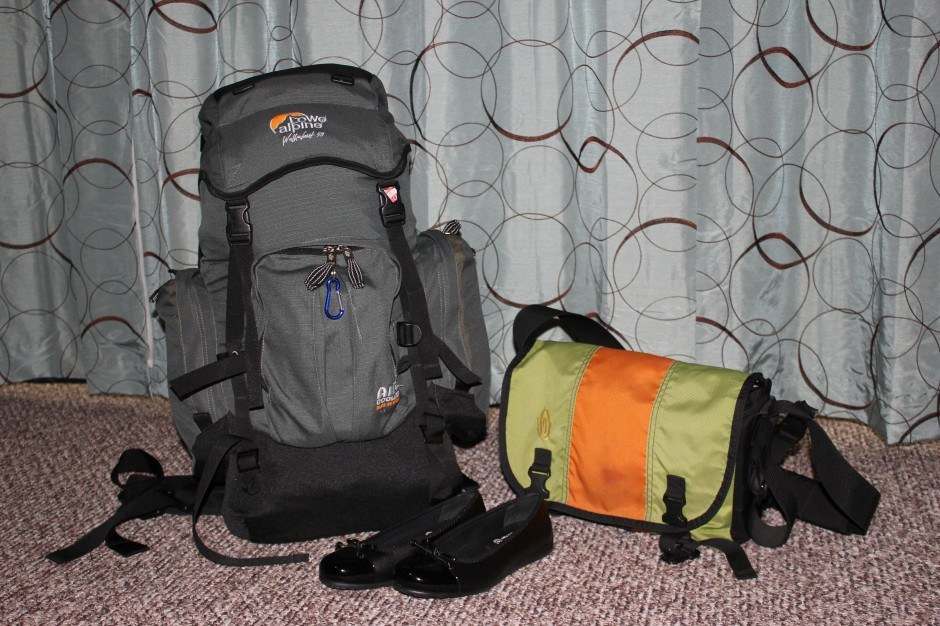 When packing for a RTW trip, I fit everything I was taking into these two bags!