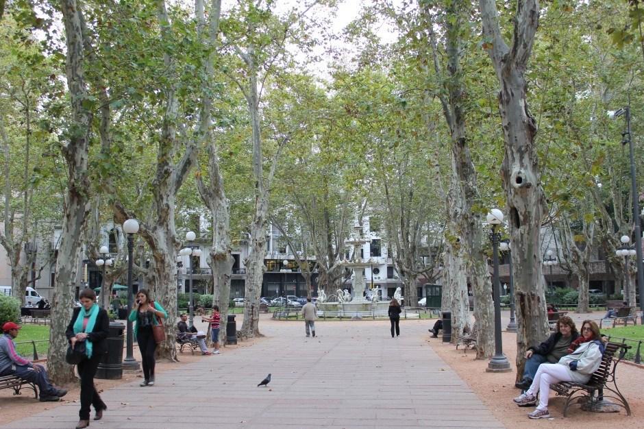 Montevideo sights: Plaza Constitucion