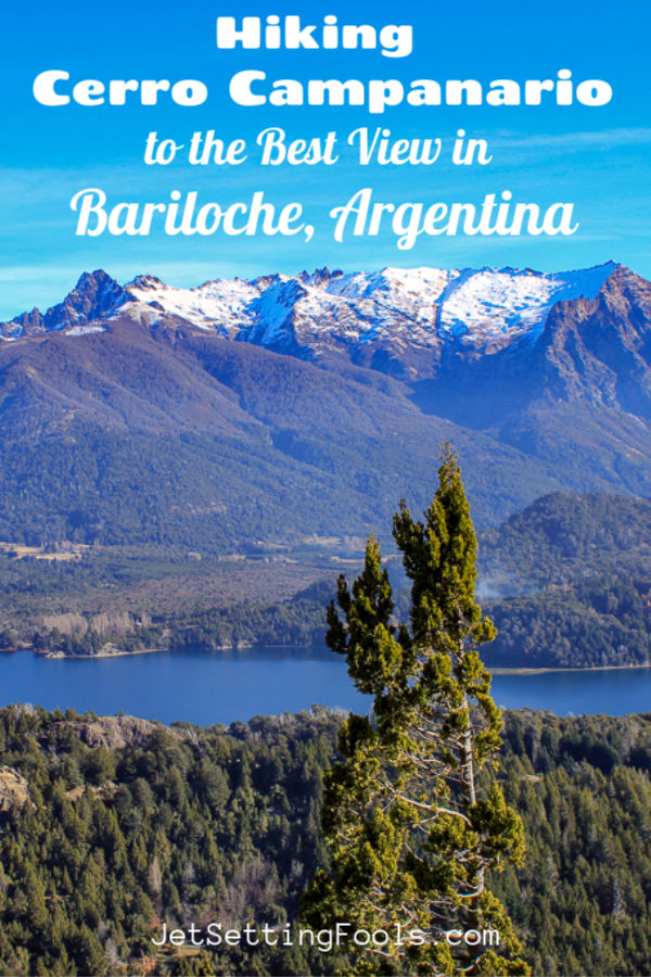 Hiking Cerro Campanario to best views in Bariloche, Argentina by JetSettingFools.com