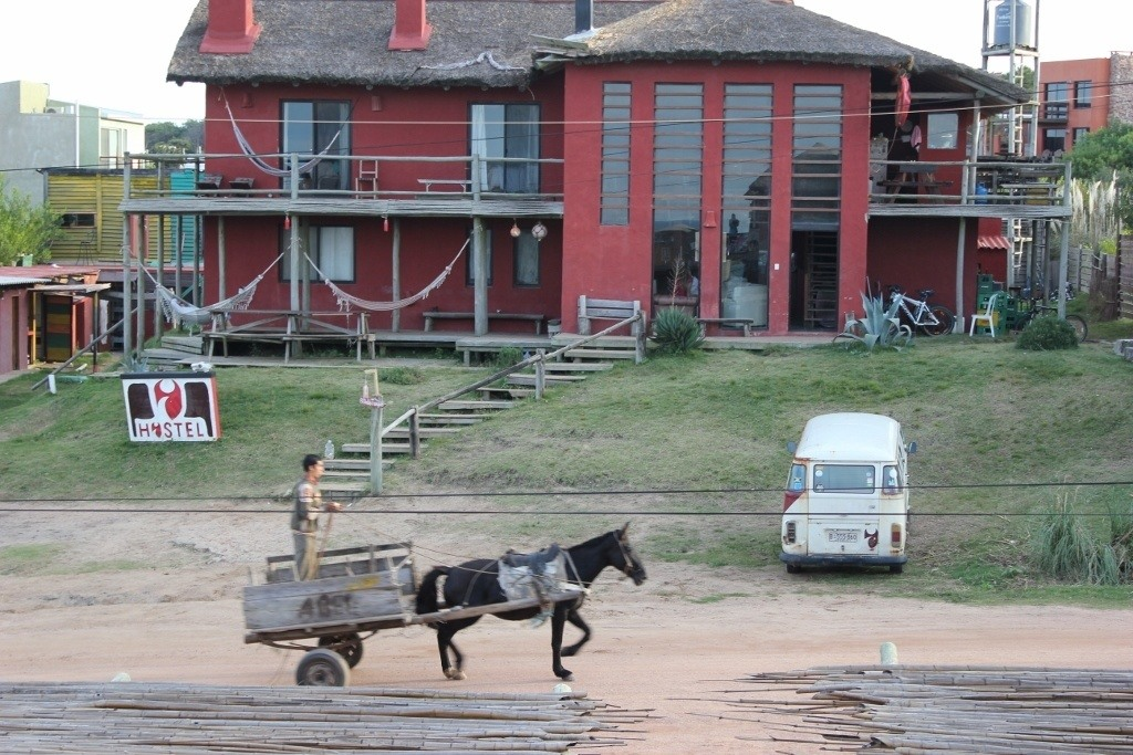 Horse pulled wagon in Punta del Diablo