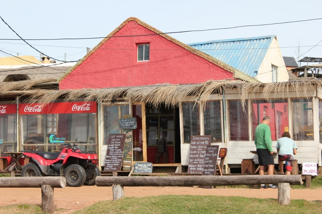Beachfront cafe in Punta del Diablo