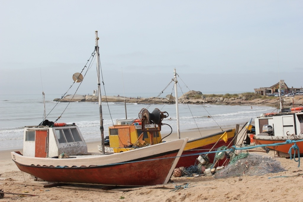 While exploring Punta del Diablo, we saw many fishing boats set out each morning for the daily fresh fish