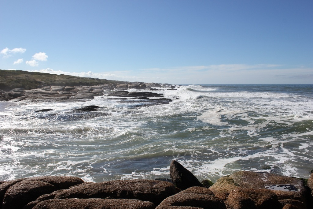 Exploring Punta del Diablo where the ocean meets the rocks