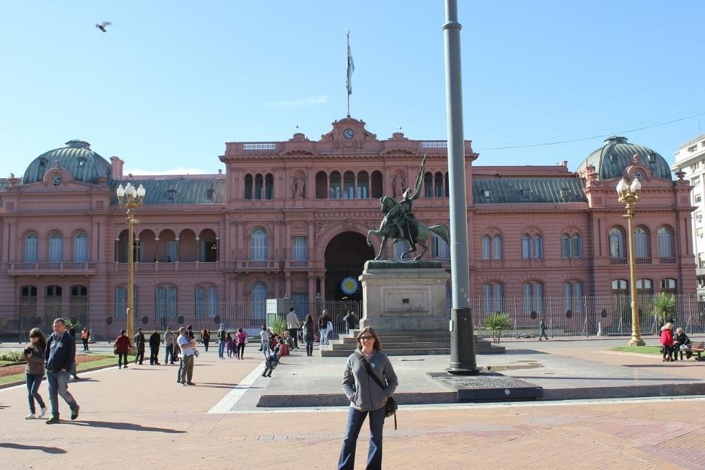 Casa Rosada on Plaza de Mayo in Buenos Aires, Argentina