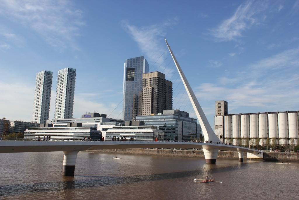 One-day itinerary for Buenos Aires:: See Puente de la Mujer, a pedestrian-only Bridge of the Woman