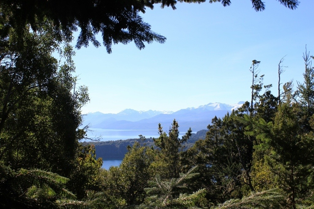 Viewpoint from hiking trail to Cerro Campanario in Bariloche, Argentina