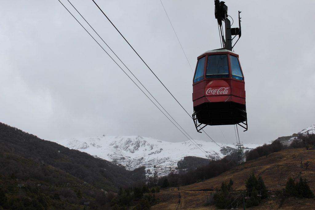 Ski lift at Cerro Catedral in Bariloche, Argentina