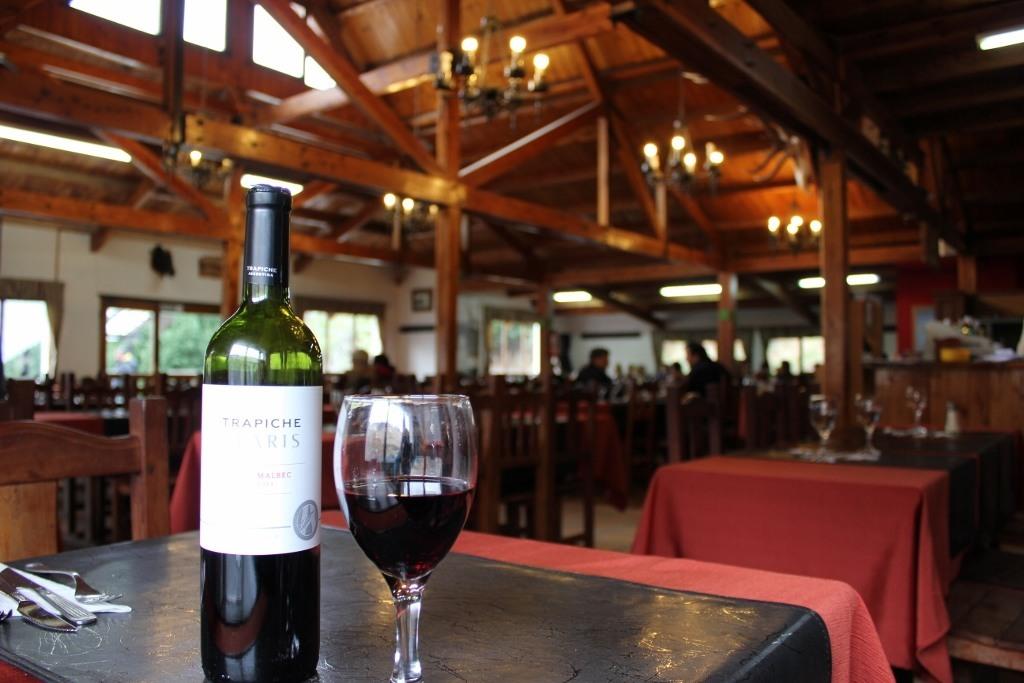 Inside the lodge at Cerro Catedral in Bariloche, Argentina