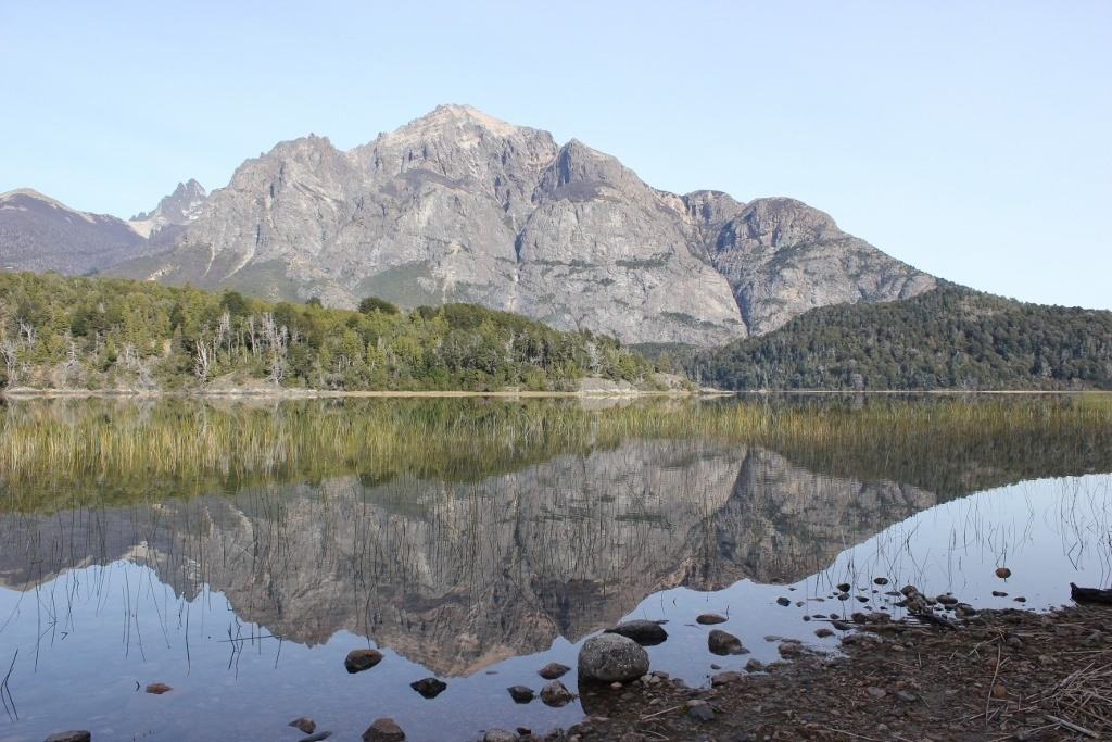 Viewpoint of Lago P. Moreno Oeste and Isla de los Conejos at Parque Municipal Llao-Llao in Bariloche, Argentina
