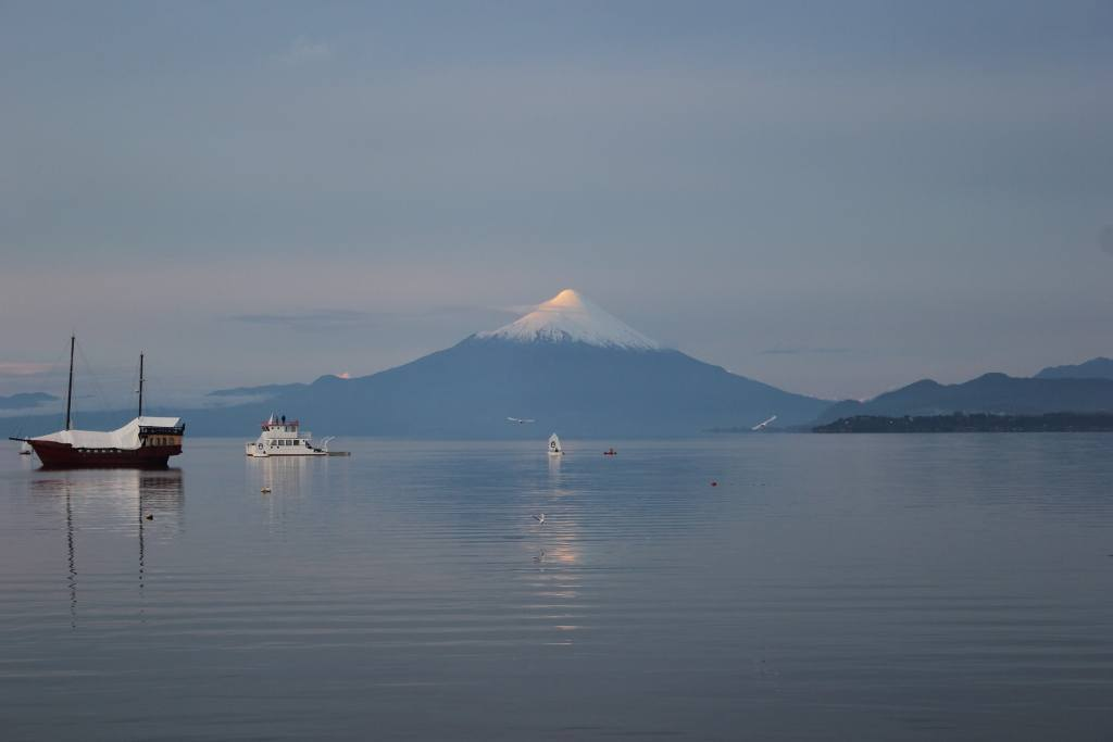 Volcan Osorno at sunset in Puerto Varas, Chile