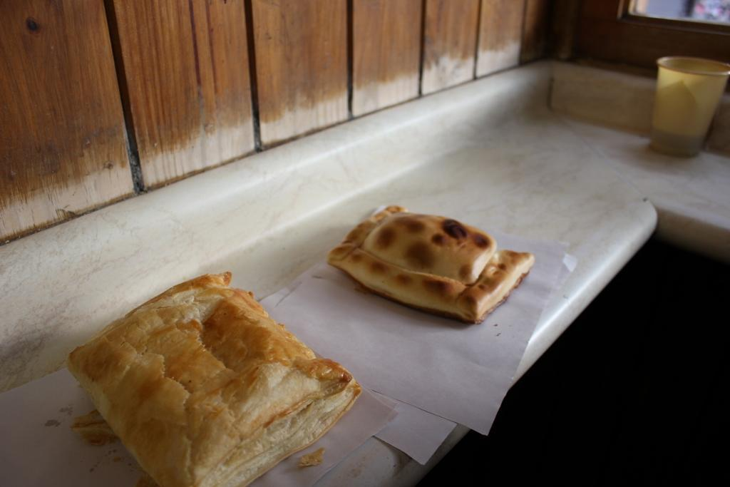 What to eat in Santiago, Chile: Cheese and Pino (meat mixture) empanadas from Zunino