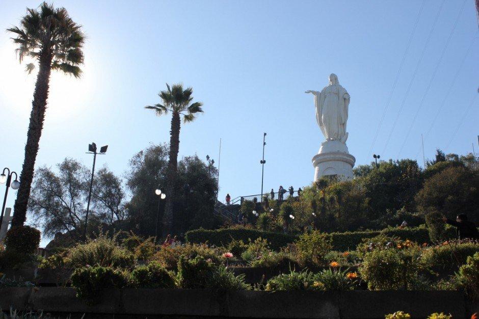 Virgen de la Inmaculada Concepcion on Cerro San Cristobal in Santiago