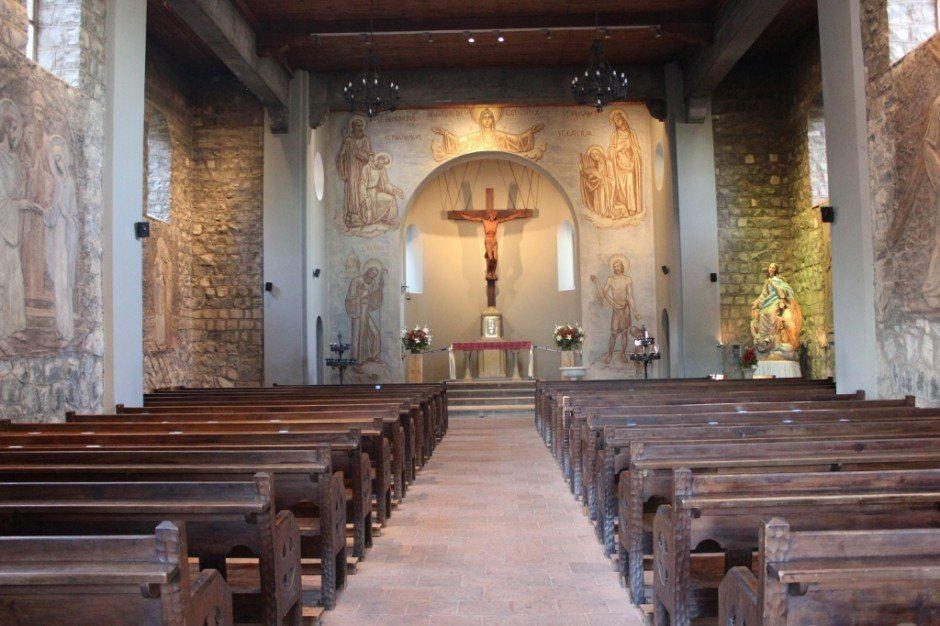 Interior of chapel on Cerro San Cristobal in Santiago