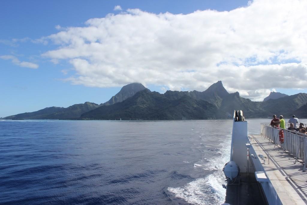Ferry from Moorea to Tahiti, French Polynesia