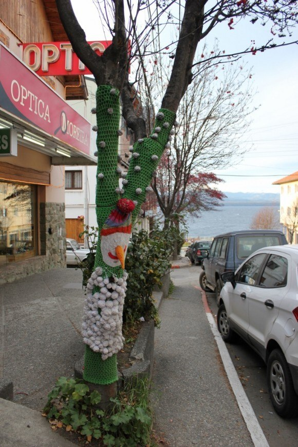 Bariloche sights: Sweaters for trees