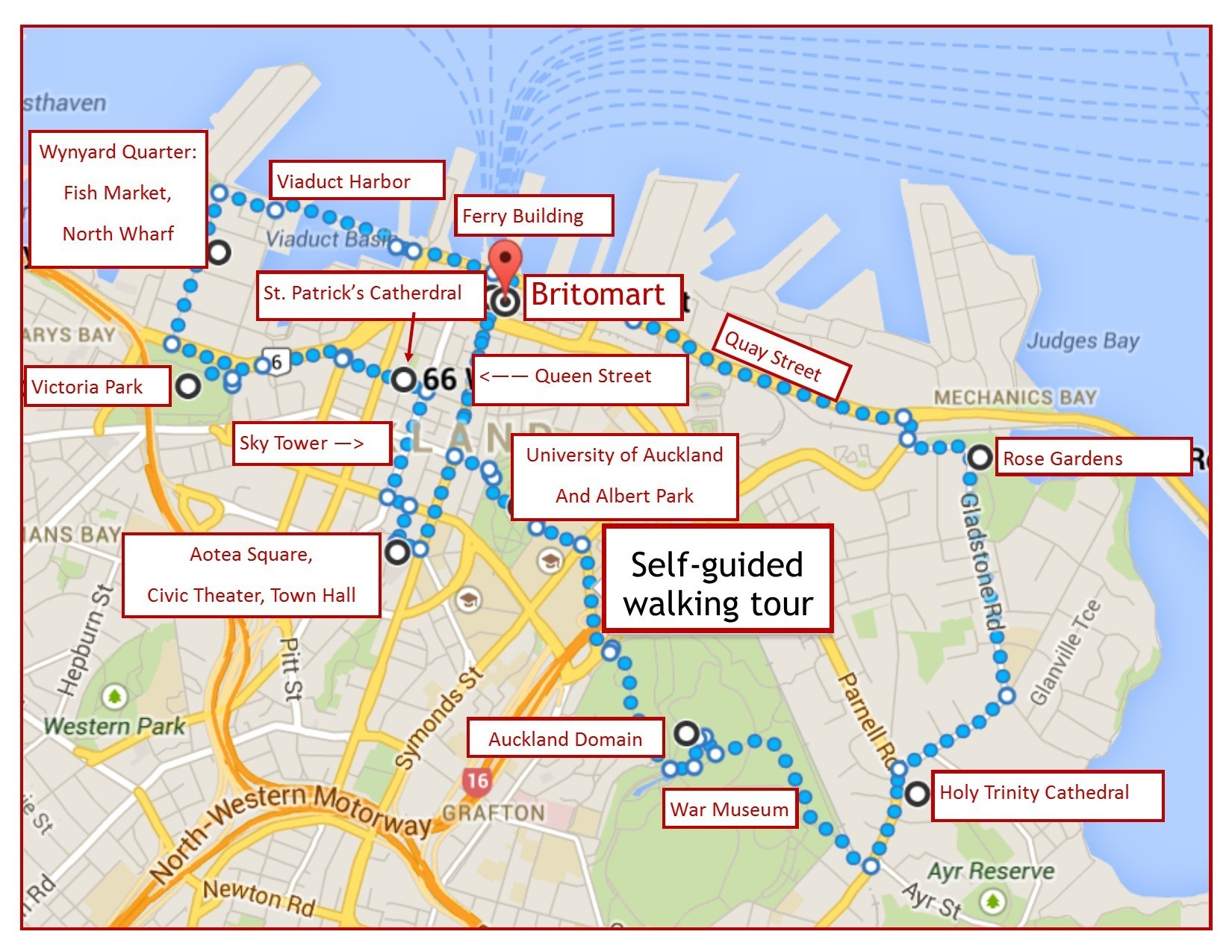 New Zealand Sightseeing Map.One Day In Auckland Itinerary Self Guided Walking Tour A Trip To