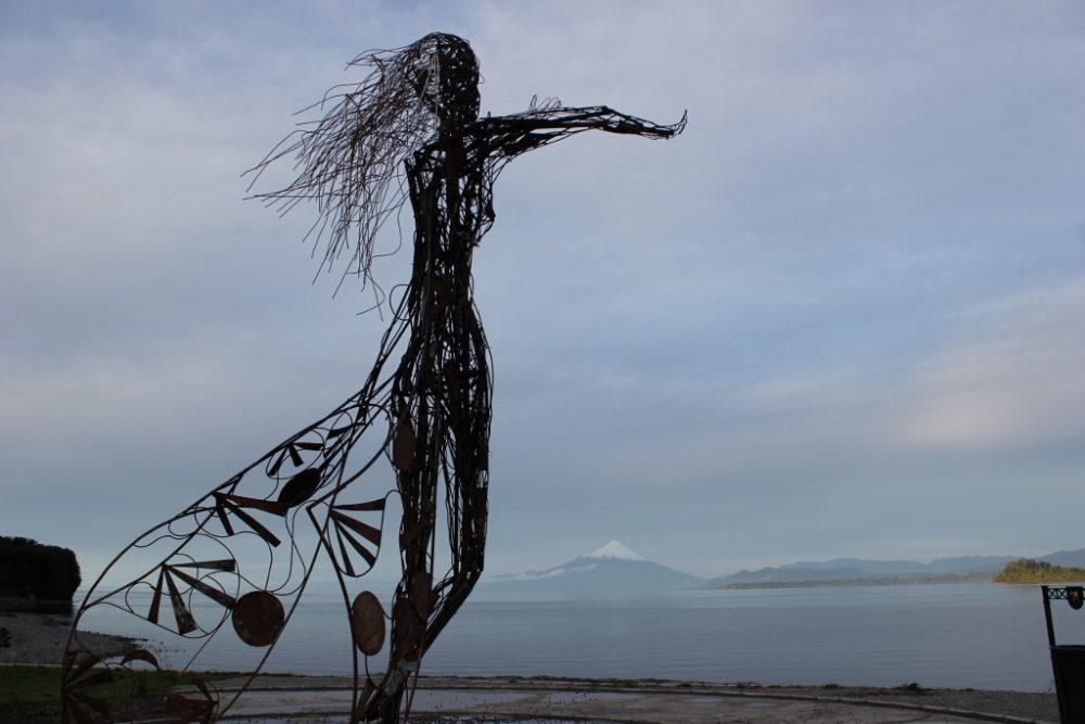 La Puntilla statue of Princess Licarayen in Puerto Varas, Chile