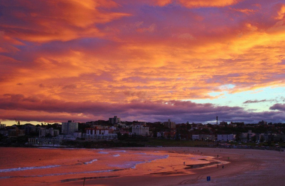 Watching sunset from North Bondi RSL on Bondi Beach, Sydney, Australia