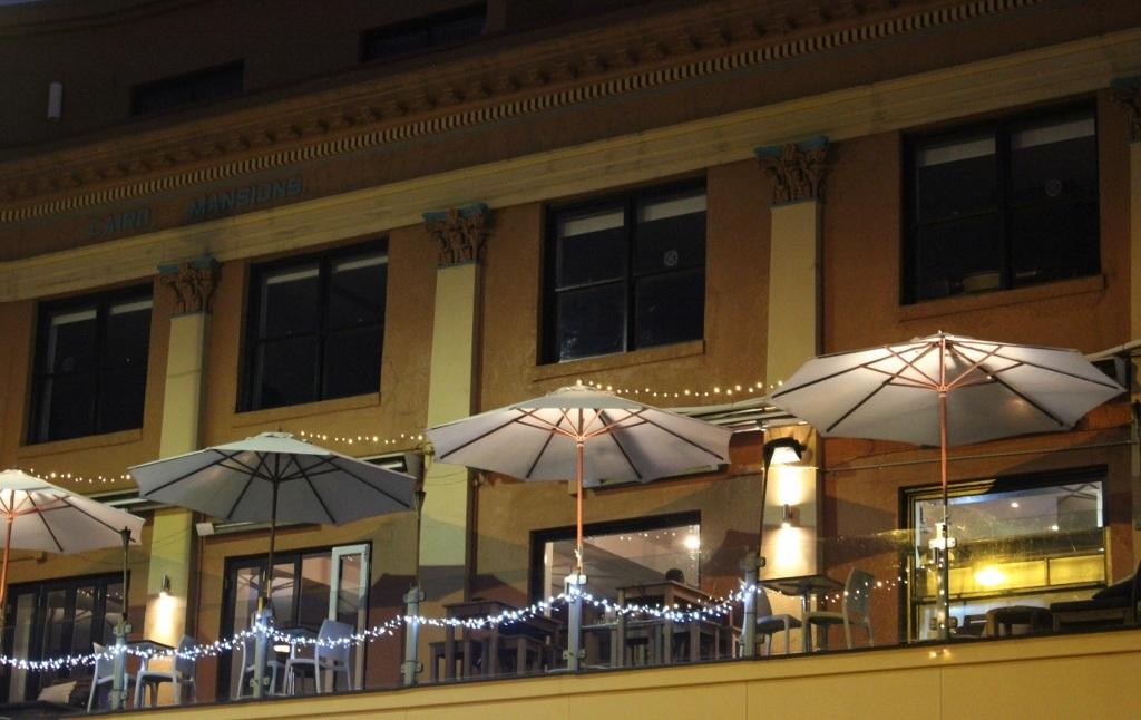 Bars in Bondi Beach: Bondi Social - A view of Bondi Social's balcony at night