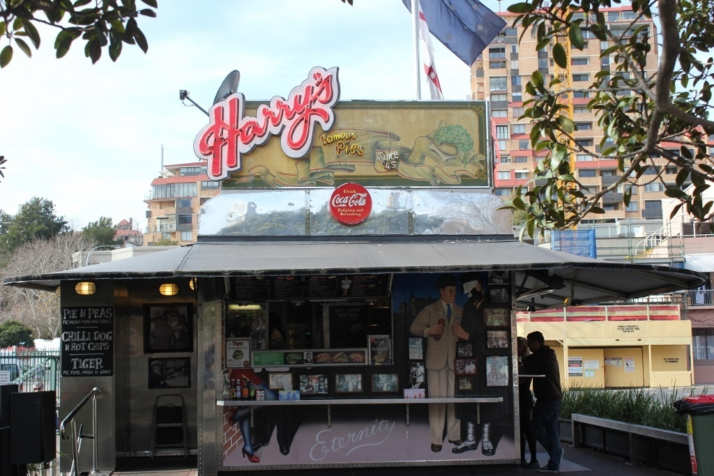One day itinerary for Sydney: Harry's Café de Wheels - a Sydney institution serving up Pies 'n Peas