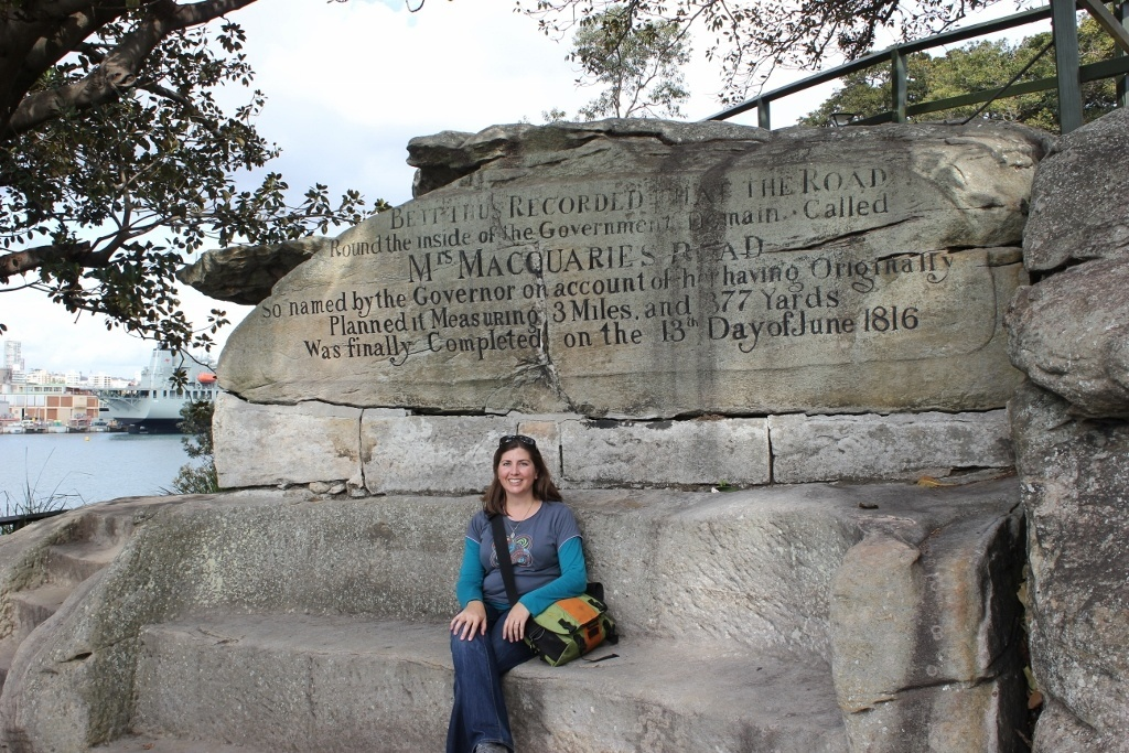One day itinerary for Sydney: Mrs. Macquarie's Chair - carved of sandstone so Mrs. Macquarie could sit and take in the view