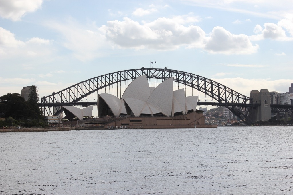 One day itinerary for Sydney: A view of the Sydney Opera House and Bridge