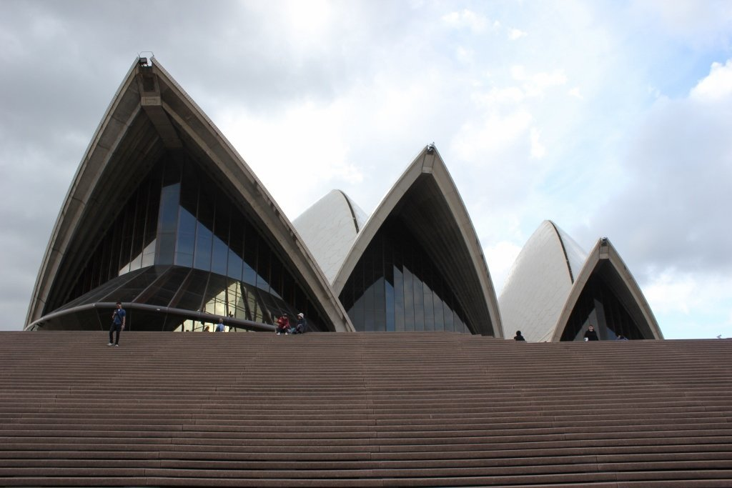 One day itinerary for Sydney: The massive steps to the Sydney Opera House