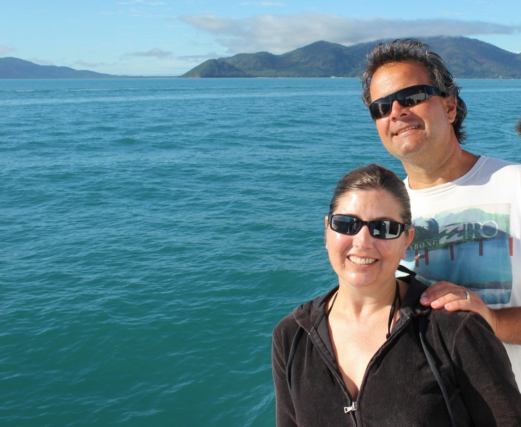 Sarah and Kris on Cairns Great Barrier Reef Snorkel Tour