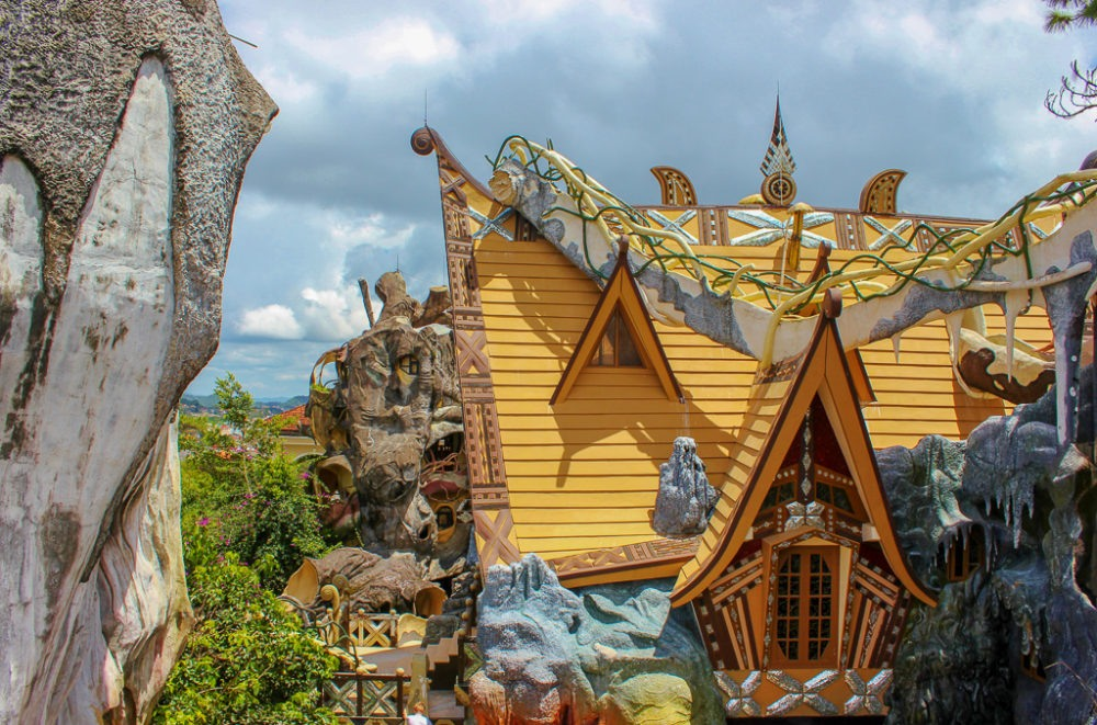 Fantasy structures at Hang Nga Crazy House in Dalat, Vietnam