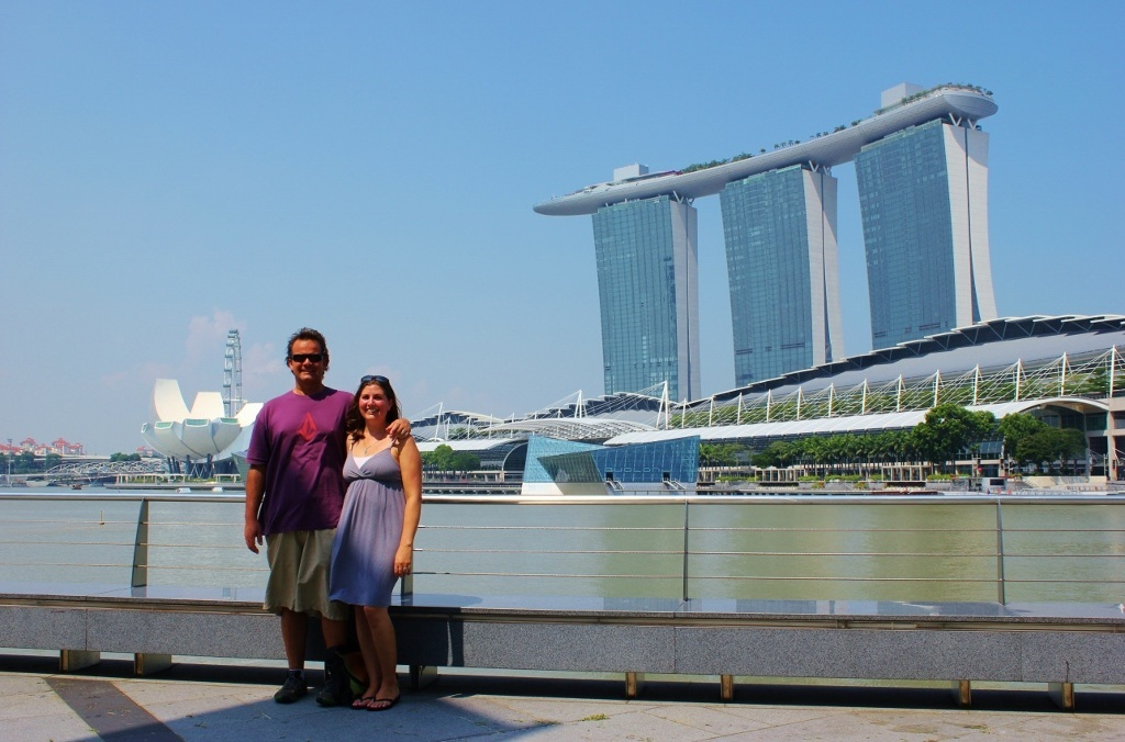 Singapore Marina Bay self-guided walking tour: Views from the Promontory at Marina Bay