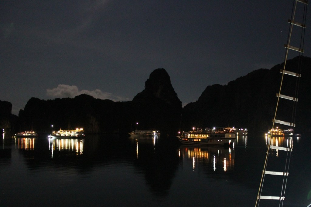 Halong Bay cruise: Halong Bay at night