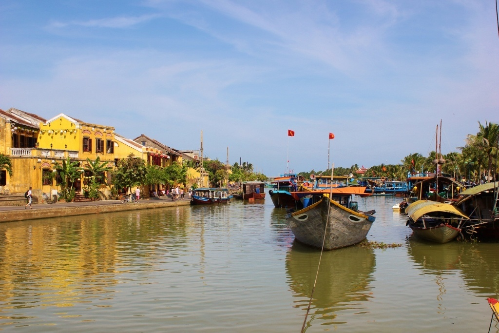 First impressions of Hoi An, Vietnam: A relaxed atmosphere of fishing boats and beautiful yellow houses