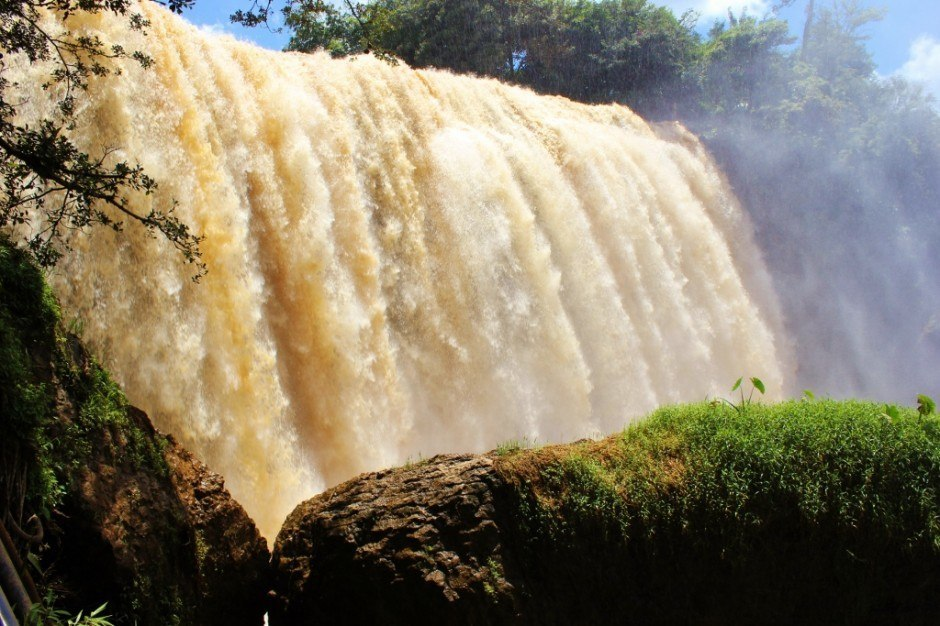 Famous Elephant Waterfall in Vietnam Central Highlands near Dalat, Vietnam