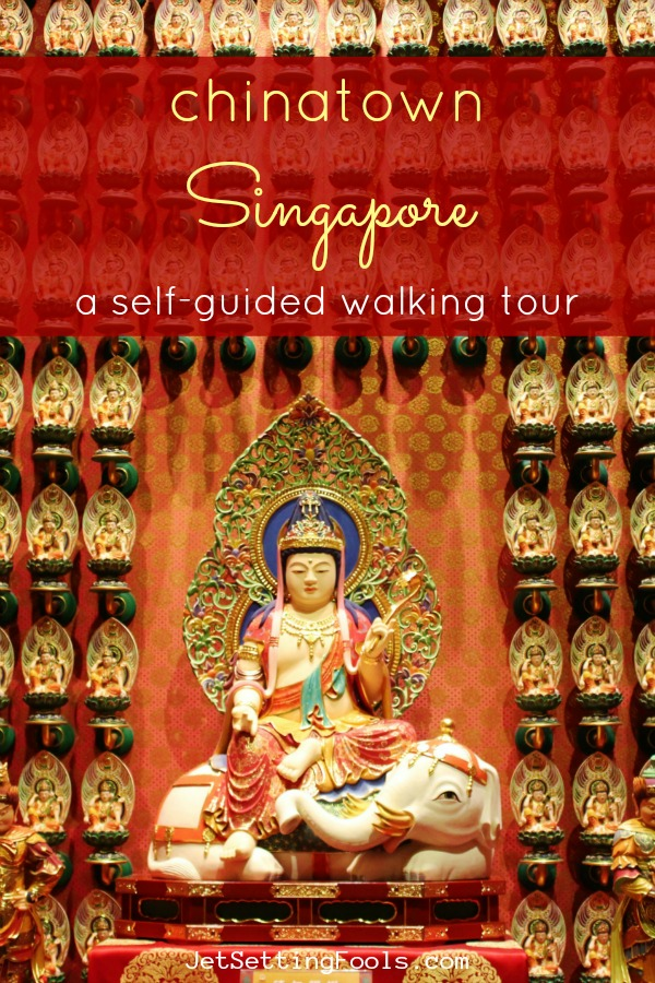 Singapore Chinatown self-guided walking tour route by JetSettingFools.com