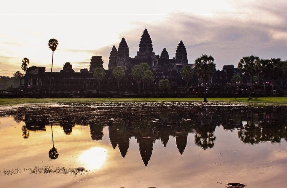 An Angkor Wat sunrise over Left Pool