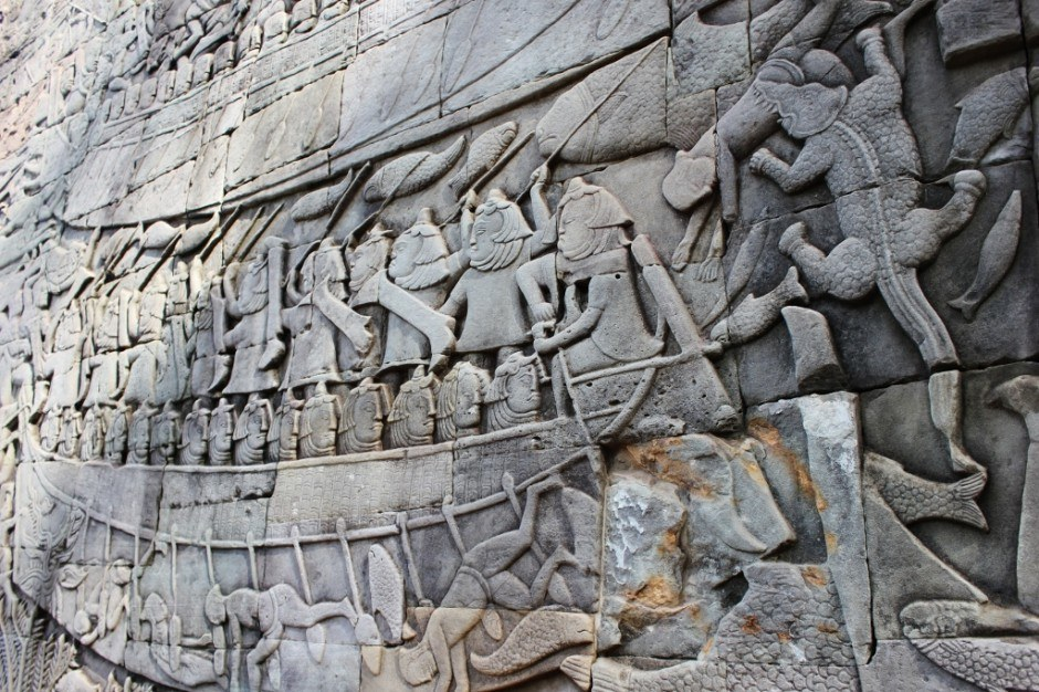 Visiting the Temples of Angkor: Bayon Temple Bas Reliefs