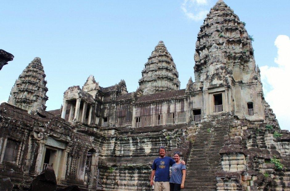 Visiting the Temples of Angkor: Angkor Wat towers