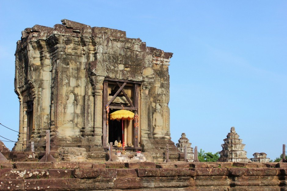 Angkor Temple Tour: Phnom Bakheng - A hotspot for sunset, we skipped the crowds and visited shortly after sunrise.