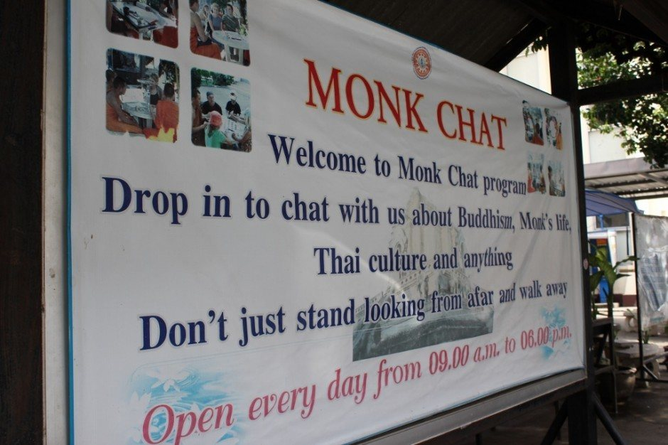 Chiang Mai on a budget: Monk Chat - chat with a monk for free