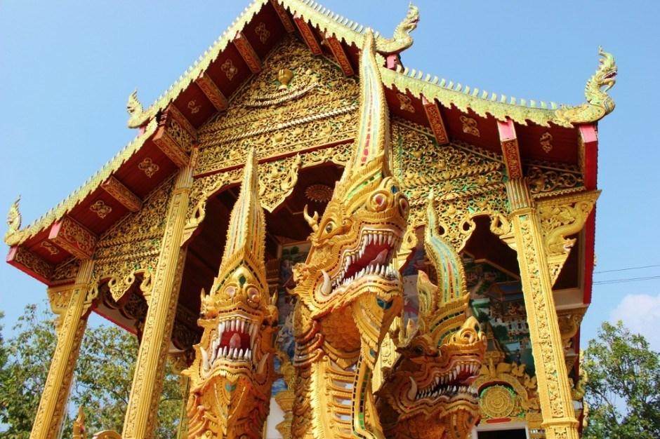 Visiting Chiang Mai temples: Doi Kham Temple Ordination Hall