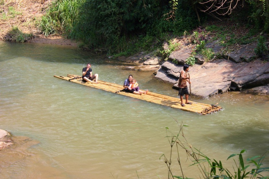 Chiang Mai trekking trip: Bamboo rafting
