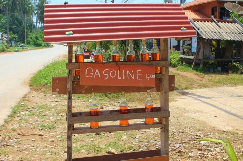 Daily life on Koh Lanta: a gas station on Koh Lanta, Thailand