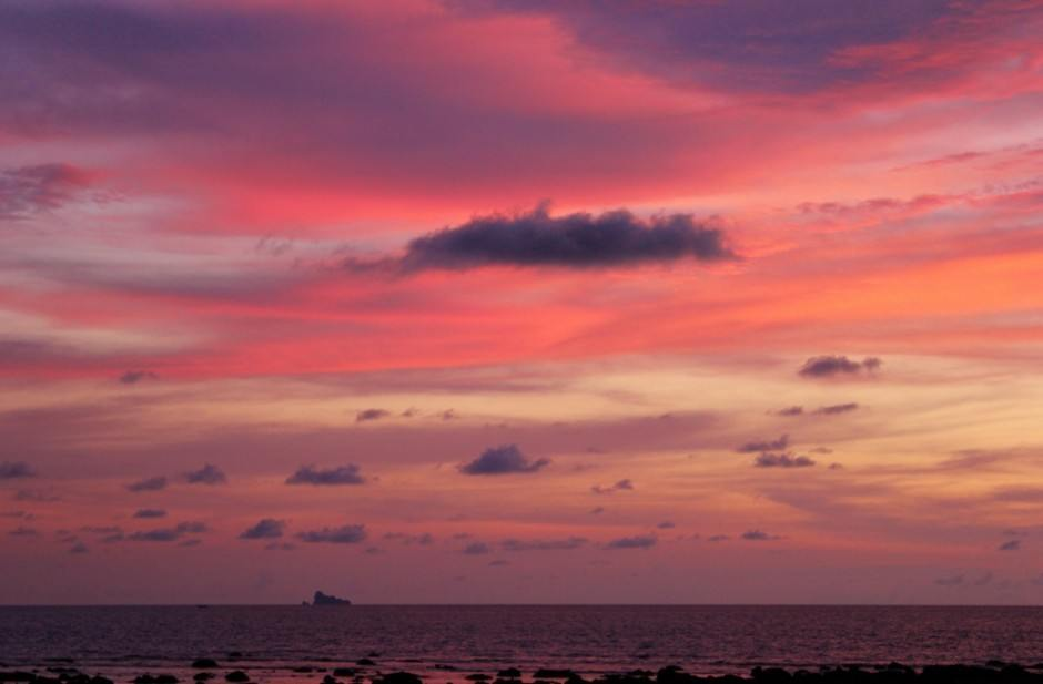 Beautiful sunsets are part of daily life on Koh Lanta.