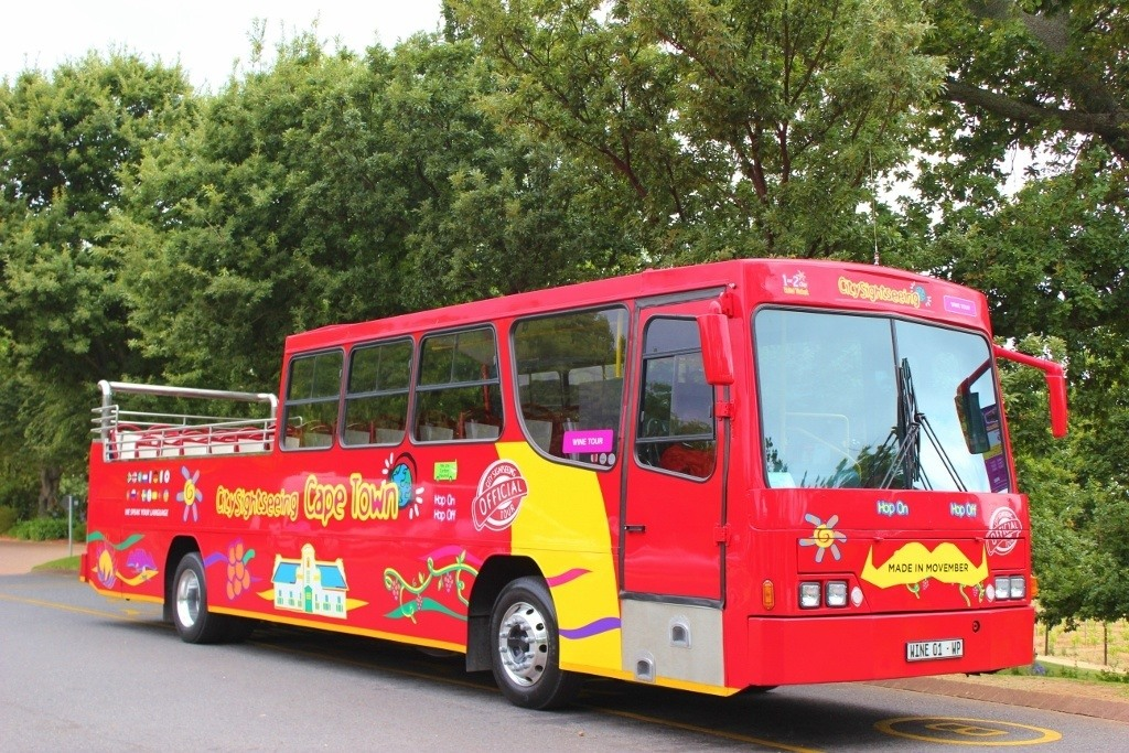 City Sightseeing Cape Town bus option for Cape Town Wine tours