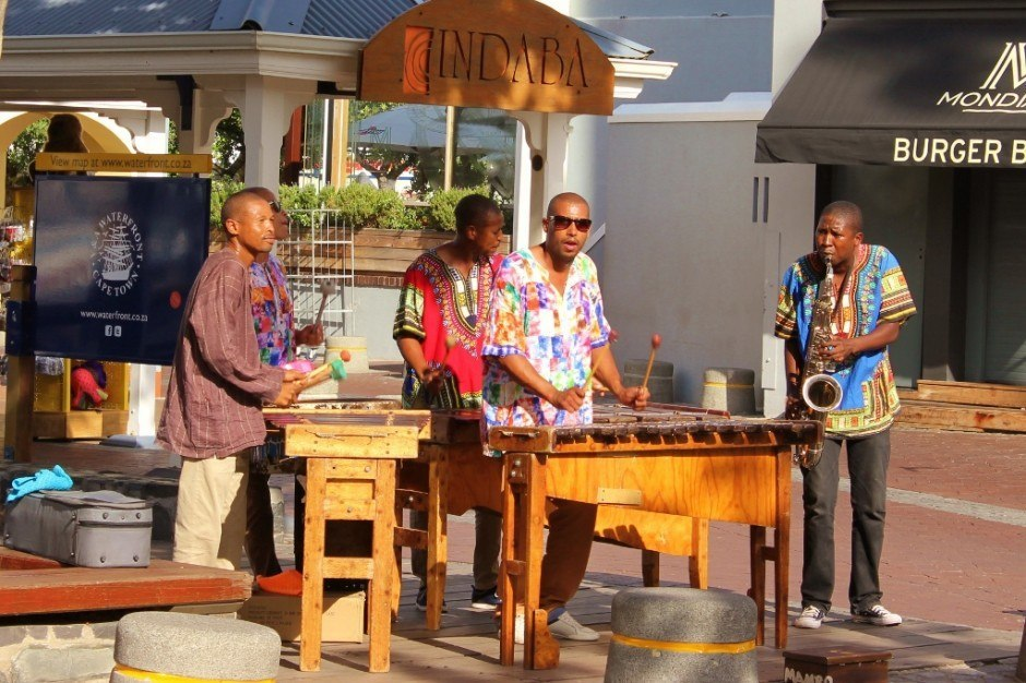 Street Musicians in Cape Town, South Africa city center