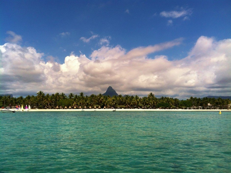 Shoreline of Mauritius at Flic en Flac