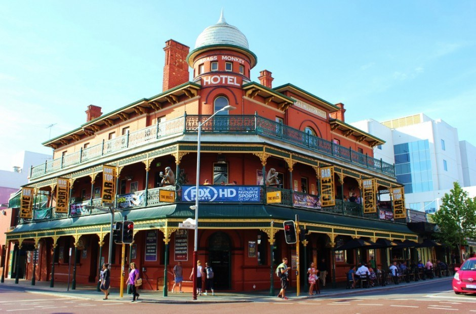 One of the historic Australian pubs in Northbridge Perth